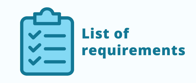 Write down your requirements